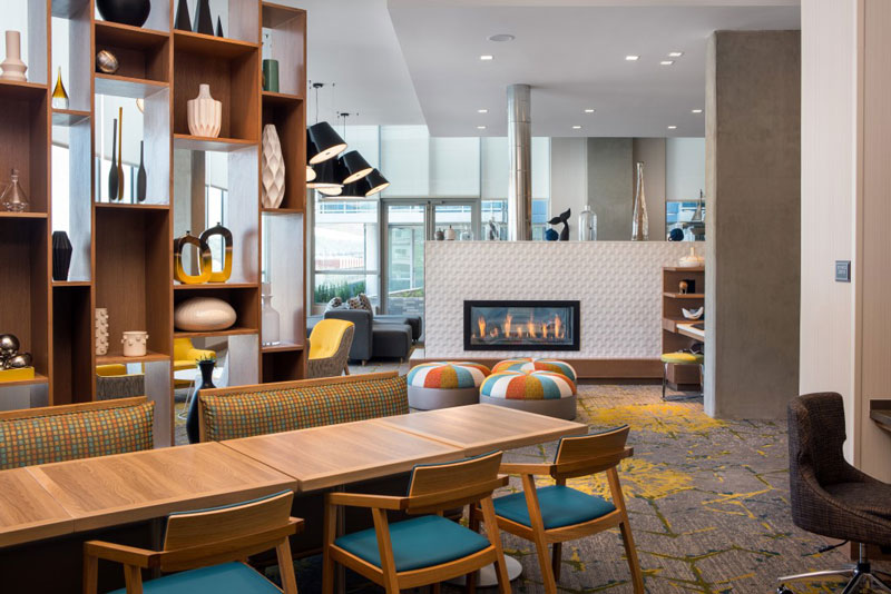 Lounge at the Residence Inn Capitol Hill-Navy Yard - Hotels for sports fans in Washington, DC