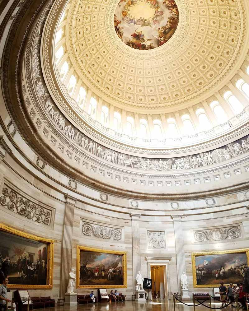 @boughsofholly - Visitors at United States Capitol Rotunda - How to tour the U.S. Capitol in Washington, DC
