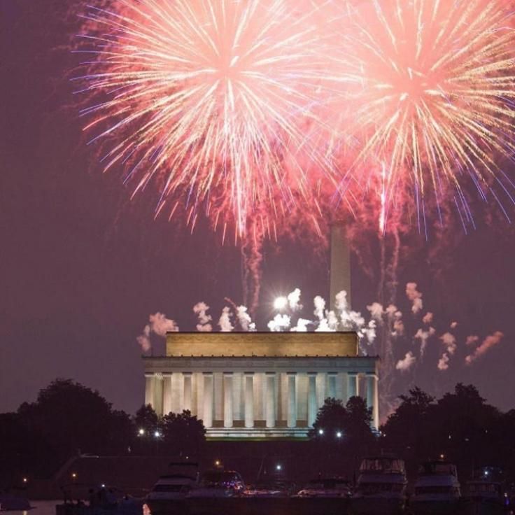 @abpanphoto - Fourth of July Fireworks on the National Mall in Washington, DC - Summer Holidays in DC