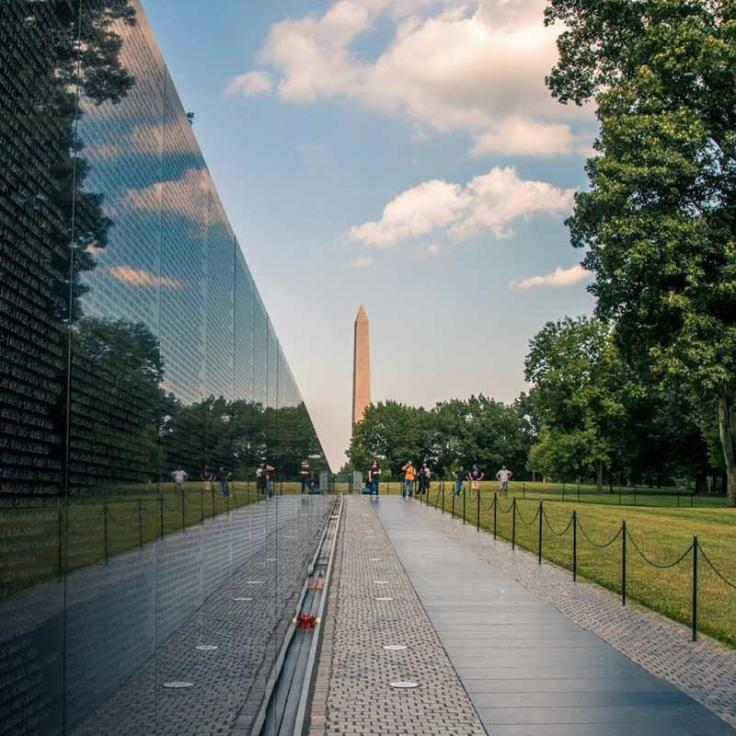 @brianjacobsphotography - Sunny summer day at the Vietnam Veterans Memorial on the National Mall in Washington, DC