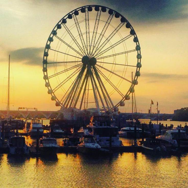 @msfeminista - Sunset at the Capital Wheel in National Harbor - Maryland