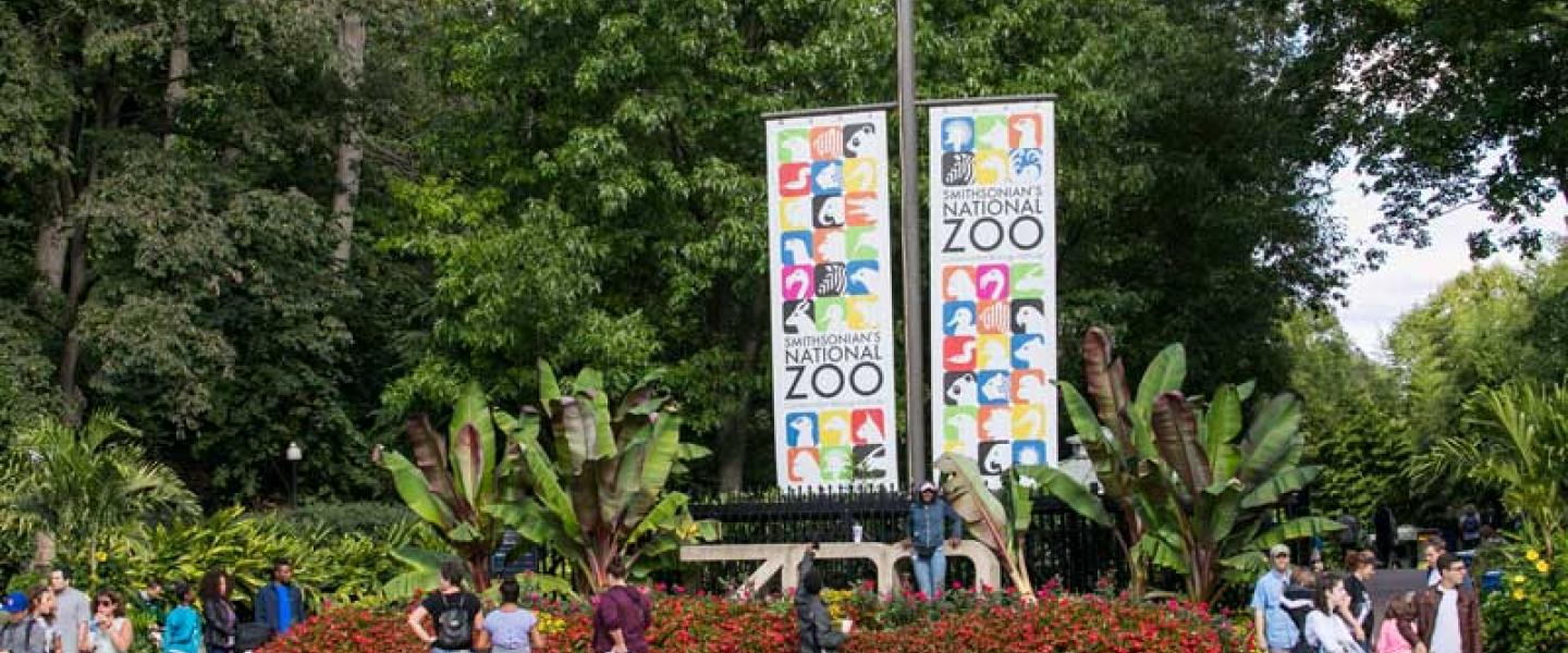 Main entrance to Smithsonian's National Zoo - Guide to the zoo in Washington, DC
