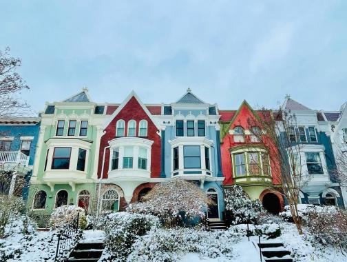 @jjweinstockmd - Colorful Row Homes in Capitol Hill