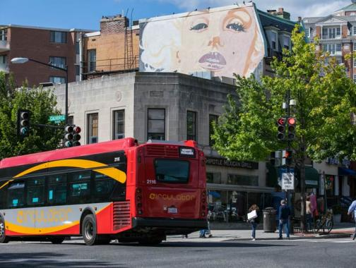 Marilyn Monroe mural on Connecticut Avenue in Washington, DC