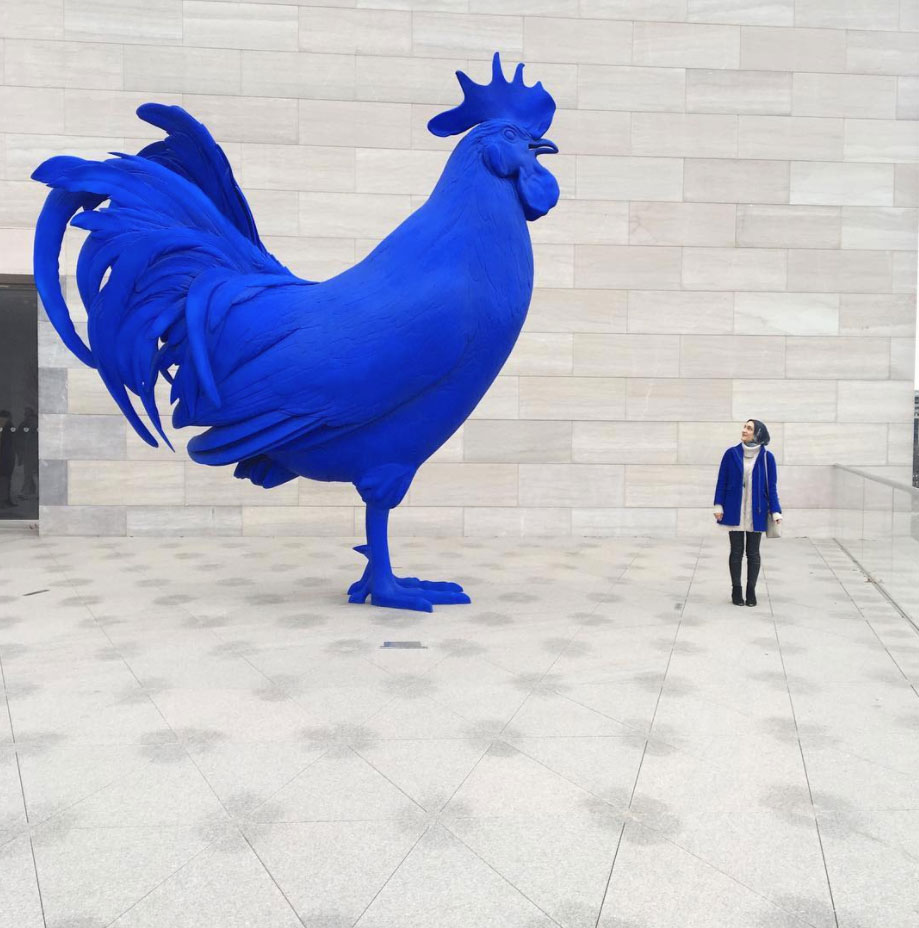 @adayinthelalz - Hahn/Cock Rooster at National Gallery of Art East Building - Washington, DC