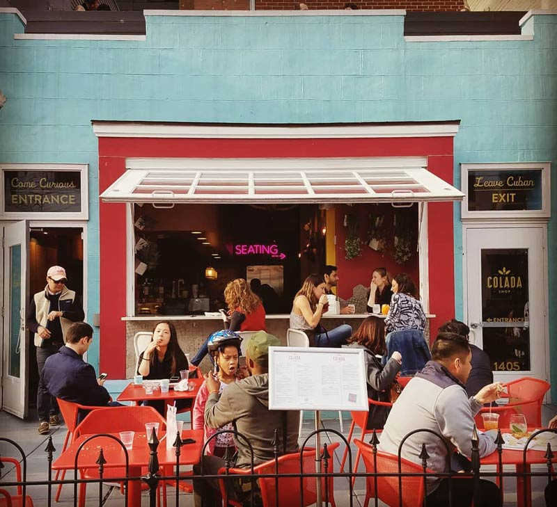 @julwriter - Outdoor patio at Colada Shop near U Street - Coffee shop, restaurant and bar in Washington, DC