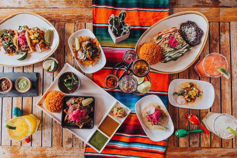 Mexican food and drink spread from El Centro D.F. - Where to eat and drink on DC's 14th Street NW