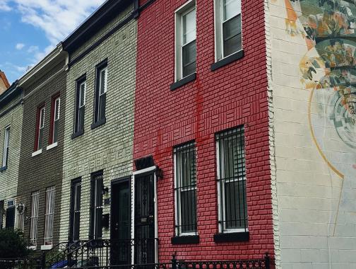 H Street Rowhouses and Mural, Washington DC