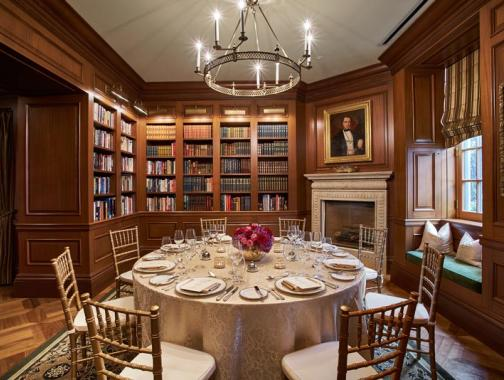 Intimate meeting and event spaces in Washington, DC - The Jefferson Hotel's Book Room near Dupont Circle and Downtown DC